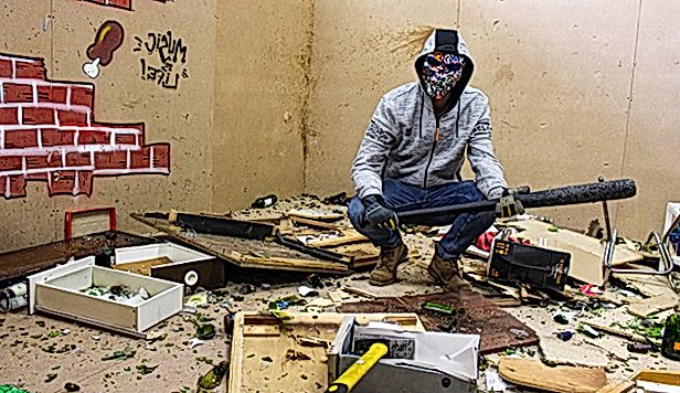 Man in the rage room
